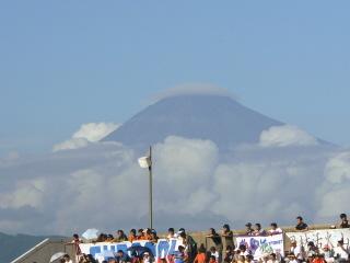 笠雲の富士