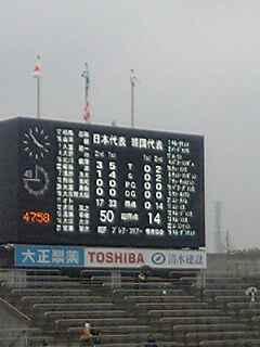 ラグビーW杯予選対韓国終了