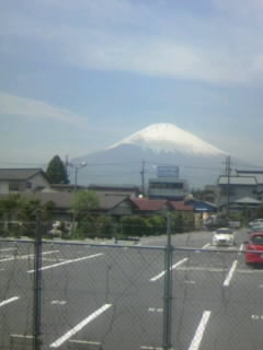 富士山、快晴