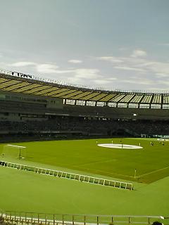 《J.LEAGUE 2007》 J2 東京V―福岡 前半終了